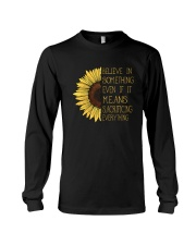Belive In Something Sunflower Hippie Long Sleeve Tee thumbnail