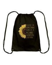 Belive In Something Sunflower Hippie Drawstring Bag thumbnail