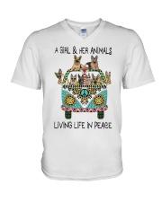 Living Life In Peace V-Neck T-Shirt thumbnail