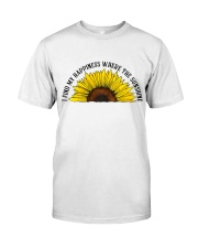 Happiness Where The Sunshine Classic T-Shirt front