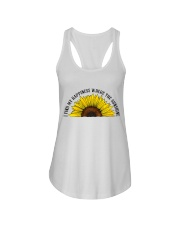 Happiness Where The Sunshine Ladies Flowy Tank thumbnail