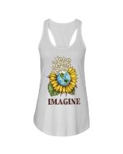 Imagine Peace Flowers Ladies Flowy Tank tile