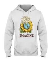 Imagine Peace Flowers Hooded Sweatshirt tile