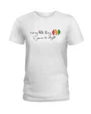 Every Little Thing Is Gonna Be Alright Hippie  Ladies T-Shirt tile