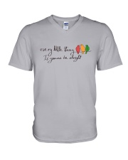 Every Little Thing Is Gonna Be Alright Hippie  V-Neck T-Shirt thumbnail
