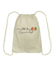 Every Little Thing Is Gonna Be Alright Hippie  Drawstring Bag thumbnail