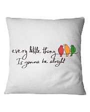 Every Little Thing Is Gonna Be Alright Hippie  Square Pillowcase thumbnail