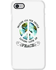 Imagine All The People Living Live In Peace Hippie Phone Case tile