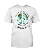 Imagine All The People Living Live In Peace Hippie Classic T-Shirt thumbnail