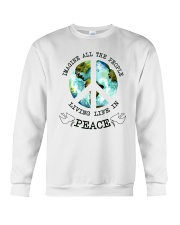 Imagine All The People Living Live In Peace Hippie Crewneck Sweatshirt thumbnail