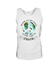 Imagine All The People Living Live In Peace Hippie Unisex Tank tile