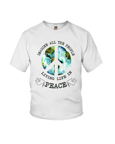 Imagine All The People Living Live In Peace Hippie