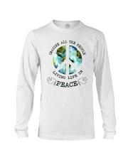 Imagine All The People Living Live In Peace Hippie Long Sleeve Tee tile