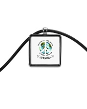 Imagine All The People Living Live In Peace Hippie Cord Rectangle Necklace tile