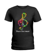 Peace Love Music Ladies T-Shirt tile