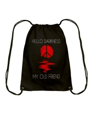 Hello Darkness Hippie Drawstring Bag thumbnail