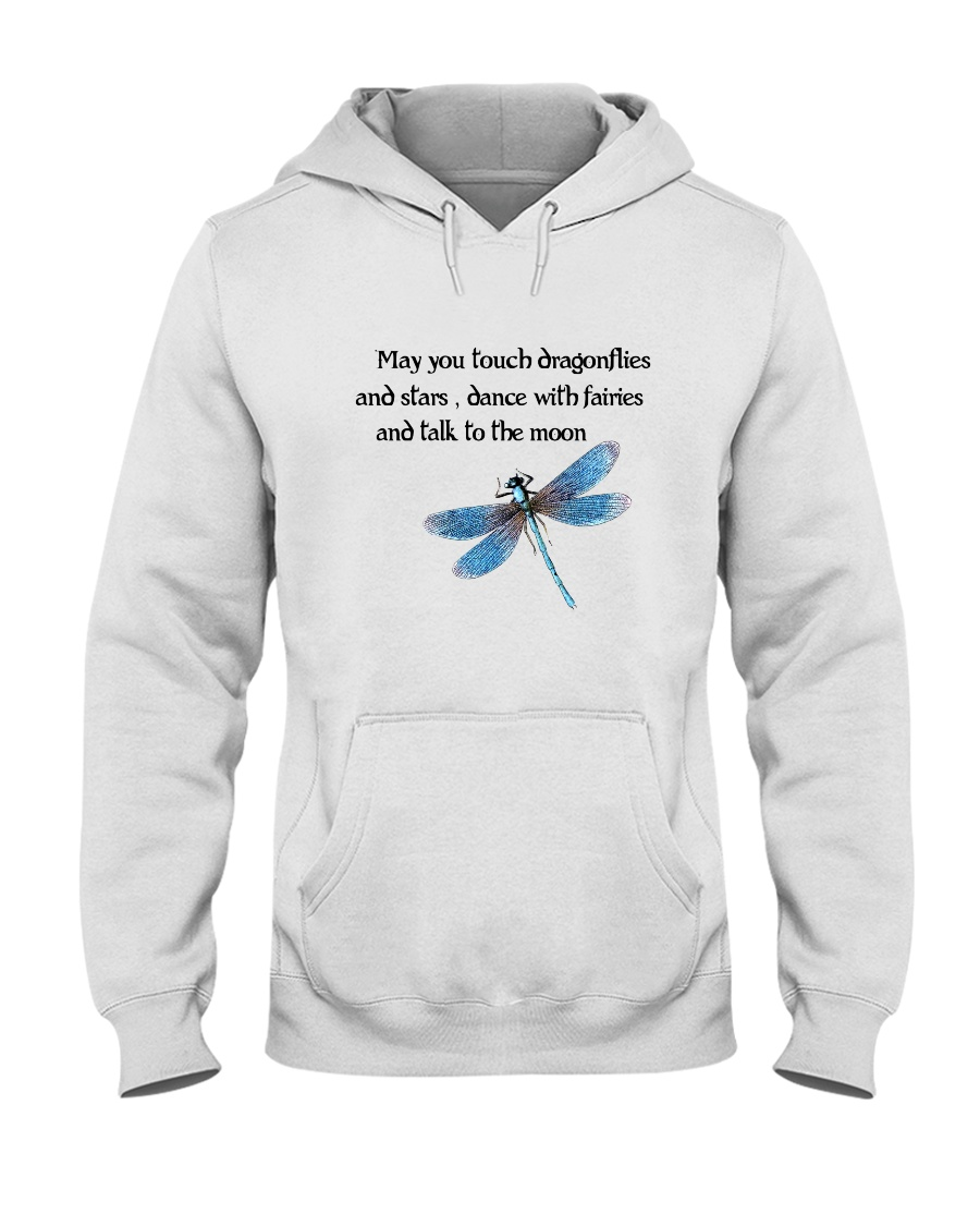 Touch Dragonflies And Stars Hooded Sweatshirt