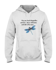 Touch Dragonflies And Stars Hooded Sweatshirt front