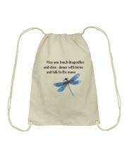 Touch Dragonflies And Stars Drawstring Bag thumbnail