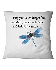 Touch Dragonflies And Stars Square Pillowcase thumbnail