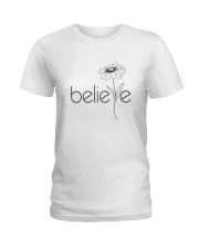 Believe Flowers Ladies T-Shirt tile