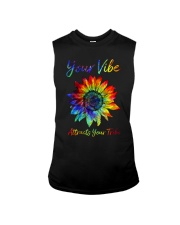 Your Vibe Attracts Your Tribe Sleeveless Tee thumbnail