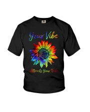 Your Vibe Attracts Your Tribe Youth T-Shirt thumbnail