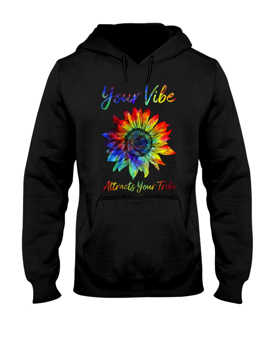 Your Vibe Attracts Your Tribe Hooded Sweatshirt