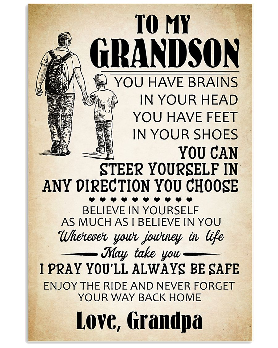 To My Grandson 11x17 Poster