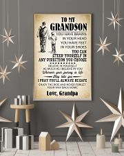To My Grandson 11x17 Poster lifestyle-holiday-poster-1