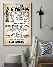 To My Grandson 11x17 Poster lifestyle-poster-1