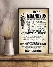 To My Grandson 11x17 Poster lifestyle-poster-3