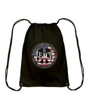 Belive In Something Teach Peace Drawstring Bag thumbnail