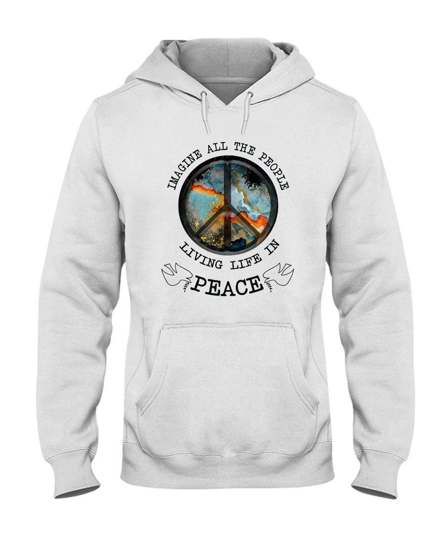 People Living Life In Peace Hooded Sweatshirt