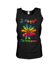 Girl Loves Peace Unisex Tank thumbnail