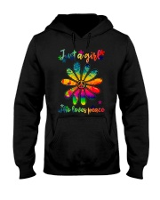 Girl Loves Peace Hooded Sweatshirt front