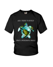 What A Wonderful World Youth T-Shirt front
