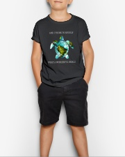 What A Wonderful World Youth T-Shirt lifestyle-youth-tshirt-front-1