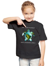 What A Wonderful World Youth T-Shirt lifestyle-youth-tshirt-front-2