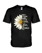 She Is A Good Girl V-Neck T-Shirt thumbnail