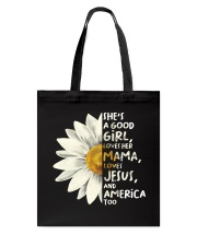 She Is A Good Girl Tote Bag thumbnail