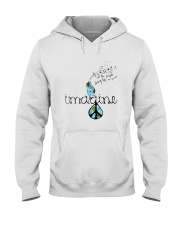 People Living Life In Peace 4 Hooded Sweatshirt front
