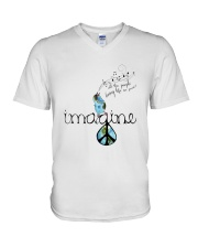 People Living Life In Peace 4 V-Neck T-Shirt thumbnail