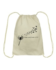Whisper Words Of Wisdom Let It Be Hippie  Drawstring Bag thumbnail
