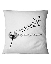 Whisper Words Of Wisdom Let It Be Hippie  Square Pillowcase thumbnail