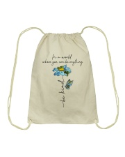 You Can Be Anything Drawstring Bag tile