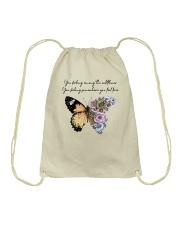 You Belong Among The Wildflowers Drawstring Bag thumbnail
