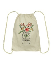 She Is A Little Wildflowers Drawstring Bag thumbnail