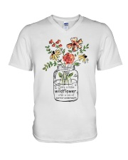 She Is A Little Wildflowers V-Neck T-Shirt thumbnail