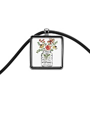 She Is A Little Wildflowers Cord Rectangle Necklace thumbnail